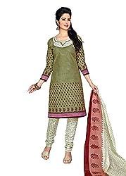 RK Fashion Green Colour Cotton Unstitched Dress Material (CHANDANI1028-Green-Free Size)
