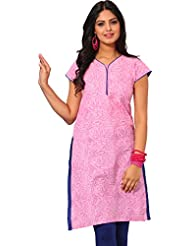 Arista Ready To Wear Stitched Pink Cotton Kurti