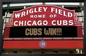 Professionally Framed Chicago Cubs (Cubs Win!!!) Sports Poster Print - 22x34 with... by Poster Revolution