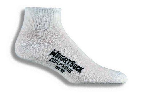 Wrightsock Wrightsock Coolmesh II Quarter Running Socks - 2 Pack, White, Large