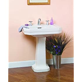 Barclay Constitution 8-Inch Widespread Vitreous China Pedestal Sink