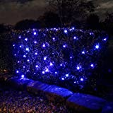 Solar Powered Garden Net Light, 100 Blue Bulbs 1.5m x 0.8m by Lights4funby Lights4fun