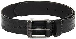 Fume Designs Men's Leather Belt - FB BL 89G_Black_36