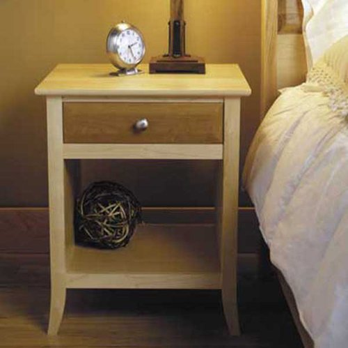 Maple & Cherry Nightstand: Downloadable Woodworking Plan