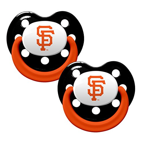 San Francisco Giants 2-Tone Infant Pacifier 2-pack Set - 2015 MLB Baby Pacifiers