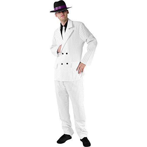 Men's White Gangster Suit Costume Size: X-Large