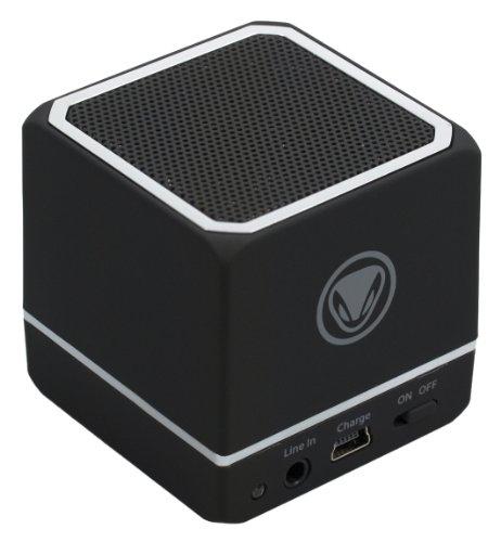 Sunflex snakebyte audio:cube Portabler Bluetooth Lautsprecher mit Akku für PC/Smartphone/Tablet schwarz