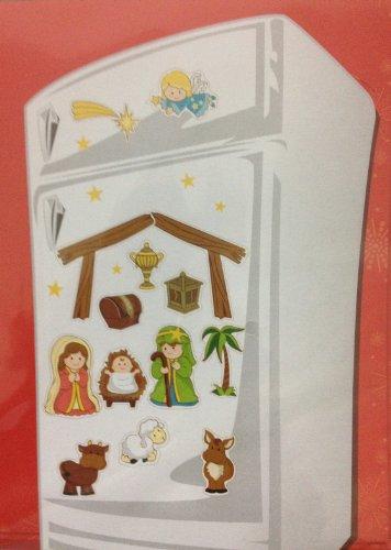 Buy Jumbo Christmas Magnet Set - Nativity Scene - Indoor/Outdoor - Refrigerator, Car, Metal Door And More discount