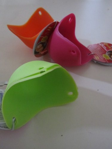 2 Silicone Egg Poachers For The Modern Way To Poach Eggs - Yellow, Red Or Orange By Pms®
