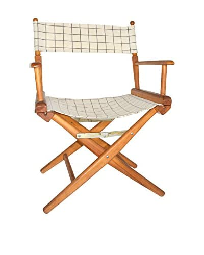 Uptown Down Plaid Director's Chair