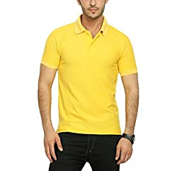 Willmore Men's Cotton Polo (Pack of 2) (SDL558965051 _Yellow Orange_Small)