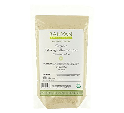 Banyan Botanicals Ashwagandha Powder - USDA Certified Organic, 1/2 Pound - Adaptogenic Ayurvedic Herbal Supplement That Promotes Vitality & Strength - Support for Stress-free Living! (Organic Passion Fruit Juice compare prices)