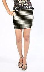 Black Gold Stripe Skirt