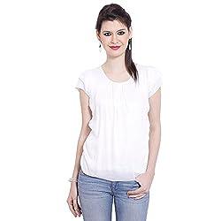 TUNTUK Women's Filpo Top White Viscose Top