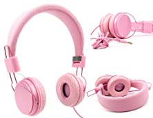 buy Duragadget Ultra-Stylish Pink Kids Fashion Headphones With Padded Design, Button Remote And Microphone For Samsung Galaxy S5 Mini (Sm-G800F) & Sony Xperia C3