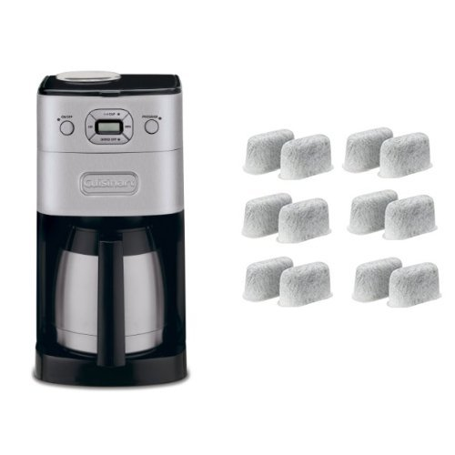 Cuisinart DGB-650BC Grind-and-Brew Thermal 10-Cup Automatic Coffeemaker, Brushed Metal and Everyday 12-Pack Replacement Charcoal Water Filters for Cuisinart Coffee Machines Bundle (Machine Grinder compare prices)