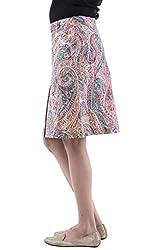 AARR pink paisely printed knee length skirt