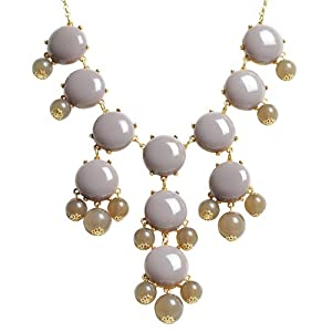 Bubble Necklace,Statement Necklace, Bubble Jewelry(Fn0508-Grey)