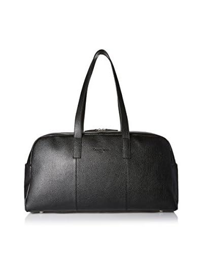 Christian Lacroix Signature Pebbled Duffle Bag, Black