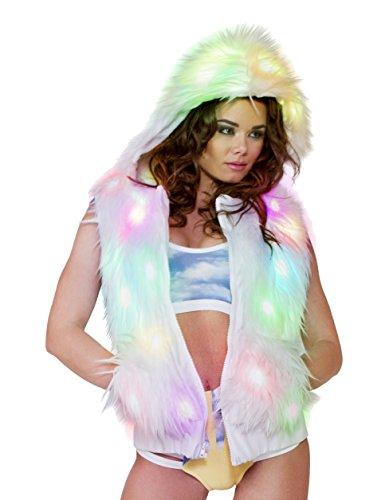 J. Valentine Women's Light-Up Spike Vest, Light-Up White, Medium