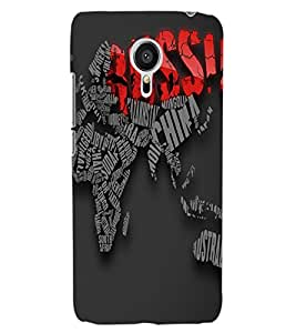 ColourCraft Typography Design Back Case Cover for MEIZU MX5