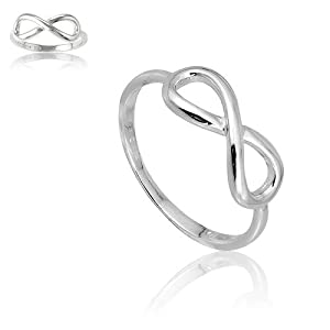 Sterling Silver Infinity Figure 8 Ring. *RING IS COMPLETELY SOLID* *Summer Special!* . Available in sizes 4 - 4.5 - 5 - 5.5 - 6 - 6.5 - 7 - 7.5 - 8 - 8.5 - 9 - 9.5 - 16