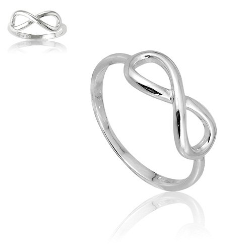 Sterling Silver Infinity Figure 8 Ring (Size 10) (Figure Rings compare prices)