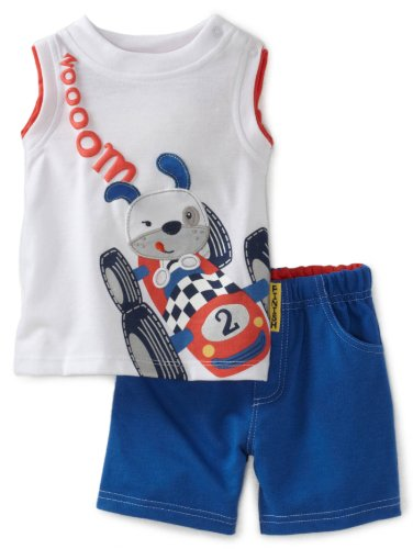 Little Rebels Baby-Boys Infant Dog Racecar Print