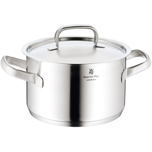 WMF Gourmet Plus Stainless Steel High Casserole with Lid, 3.7 Litres