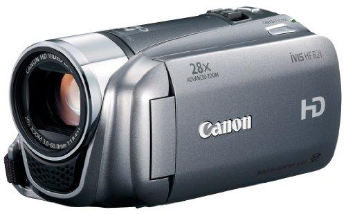 【Amazonの商品情報へ】Canon デジタルビデオカメラ iVIS HF R21 シルバー IVISHFR21SL 光学20倍 手ブレ補正 内蔵メモリー32GB