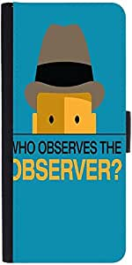 Snoogg who observes the observer 2843 Graphic Snap On Hard Back Leather + PC Flip Cover LG Nexus 5