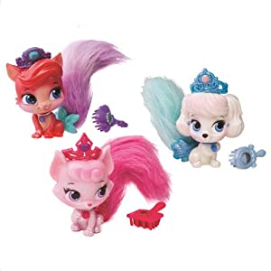 Disney Princess Palace Pets Furry Tail Friends 3 pack, Pumpkin, Beauty, & Treasure