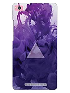 Colorful Traingle Background - Hard Back Case Cover for Xiaomi Mi4i - Superior Matte Finish - HD Printed Cases and Covers