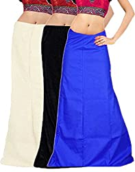 JAVULI cotton saree inskirt petticoat 7 parts -set of 3