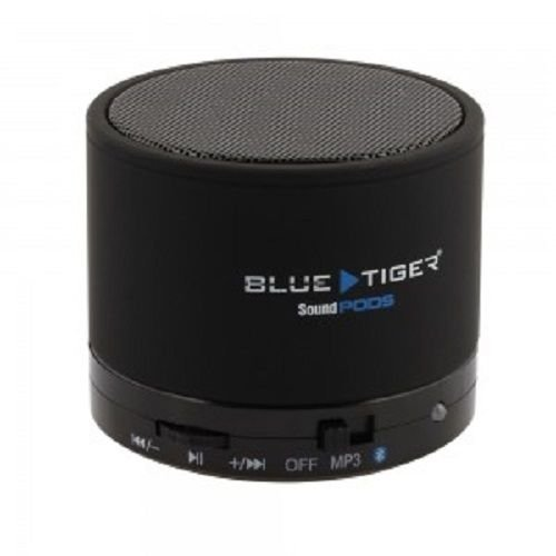 Blue Tiger Soundpods Wireless Stereo Portable Mini Speaker Pod With Bluetooth/Mp3 - Retail Packaging - Black