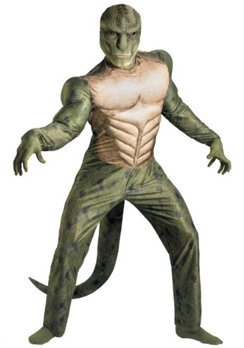 Disguise Mens Amazing Spiderman Movie Lizard Classic Muscle Chest Costume, Large (42-46)