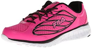 Fila Women's Hyper Split 3 Running Shoe,Pink Glo/Black/White,7.5 M US