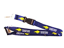 Montana State Fighting Bobcats Lanyard Keychain Id Holder Ticket - Black
