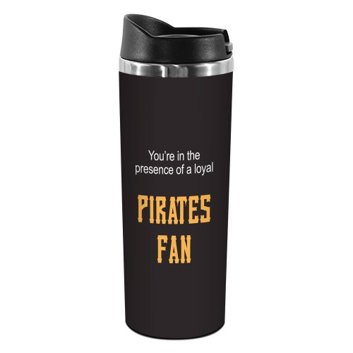 Tree-Free Greetings TT02098 Pirates Baseball Fan 18-8 Double Wall Stainless Artful Tumbler, 14-Ounce