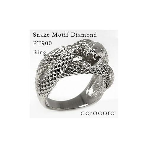 開運蛇ダイヤモンドリングPT900プラチナ指輪蛇リング天然ダイヤモンドリング