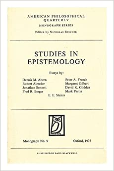 Epistemology: New Essays