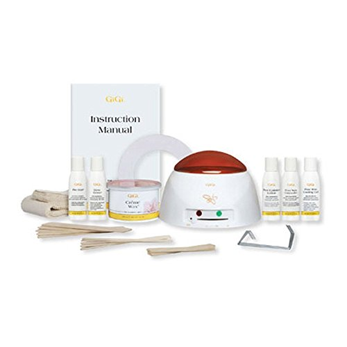 GiGi Salon Spa Mini Pro Hair Wax Waxing Kit with Wax Warmer and Lotions Included, BONUS FREE Spray Bottle of Mousse Hair Remover Included (Gigi Wax Starter compare prices)