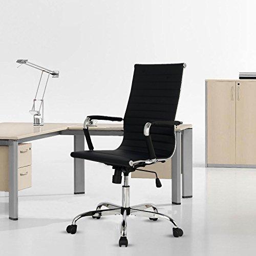 Elecwish Adjustable Office Executive Chair High Back Tall Ri