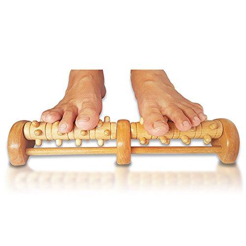 TheraFlow Deep Tissue Acupressure Foot & Heel Massager Roller (Dual Foot) - Reflexology Tool For Myofascial Release & Trigger Point Acupressure (Reflexology Feet compare prices)