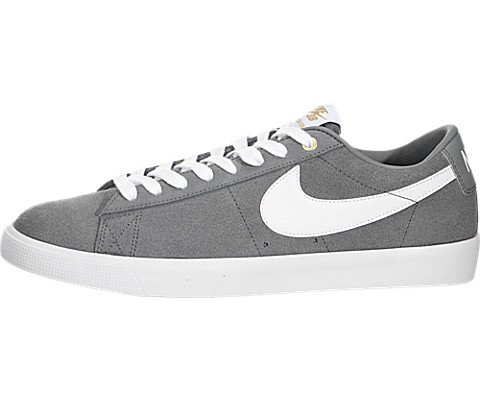 Nike Men's Blazer Low GT Cool Grey/White/Tide Pool Blue Skate Shoe 8 Men US (Cool Skate Shoes compare prices)
