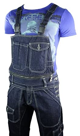 herren latzhose jeans blau neue kollektion 2 teiliges. Black Bedroom Furniture Sets. Home Design Ideas
