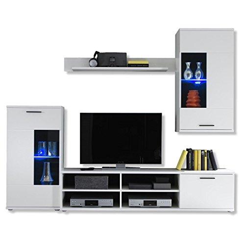 Wohnwand-Anbauwand-Schrankwand-JESSY-wei-matt-mit-LED-Beleuchtung-Wohnzimmer