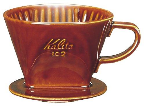Kalita 陶器製コーヒードリッパー 102-ロト ブラウン #02003