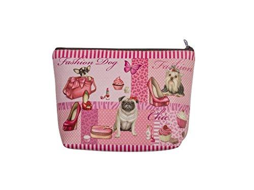 'Beautiful Cosmetic Bag in Fashion Dog Design 30005