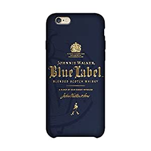 Wrapit Food&booze Blue Label Hard Back Case Cover For Apple Iphone 6/6s